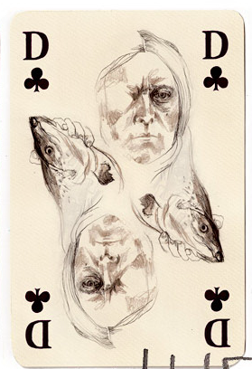 A-Deck-of-Cards-by-Monja-Gentschow-Queen-of-Clubs