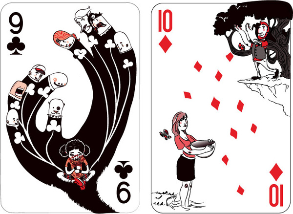 Black-Rock-Collective-Playing-Cards-Vol-2-Nine-of-Clubs-Ten-of-Diamonds