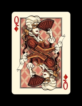 Bicycle-Venexiana-Playing-Cards-by-Lotrek-Queen-of-Diamonds