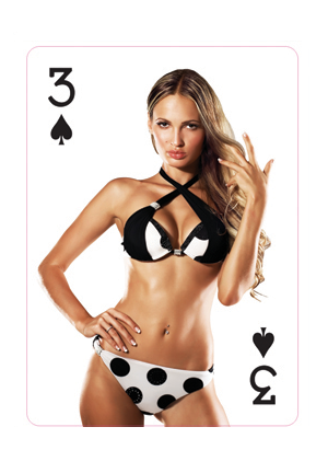 Playing cards bikini