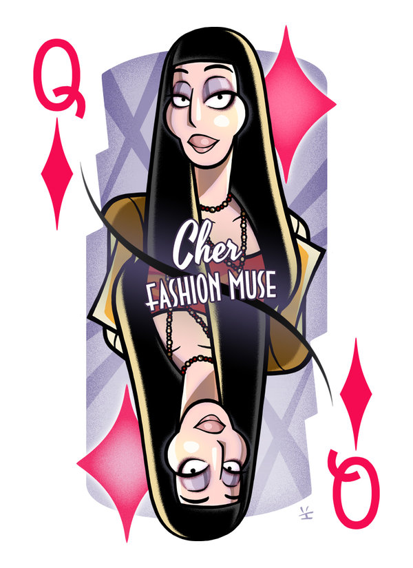 Cher-queen-of-diamonds-by-inkjava