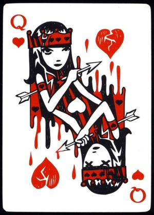 Emily-the-Strange-Playing-Cards-Queen-of-Hearts