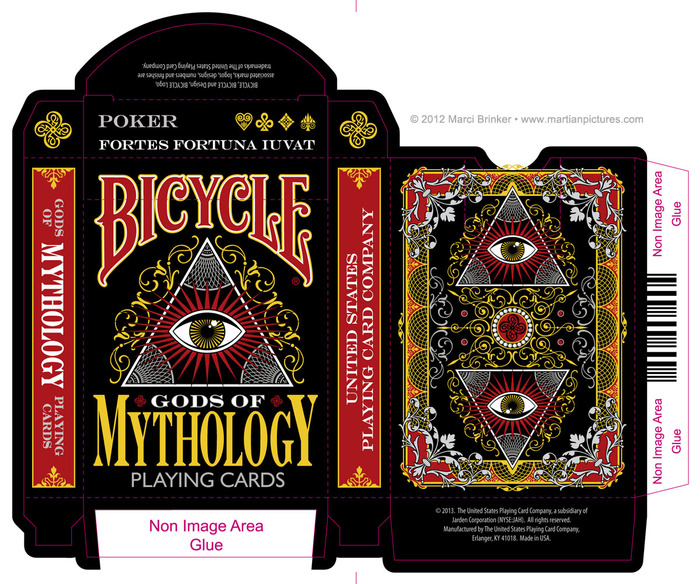b hance bicycle gods of mythology deck by marci brinker playing cards art collecting. Black Bedroom Furniture Sets. Home Design Ideas