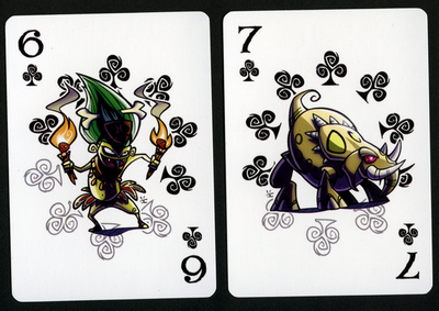 INKJAVA-Playing-Cards-Clubs-6-7