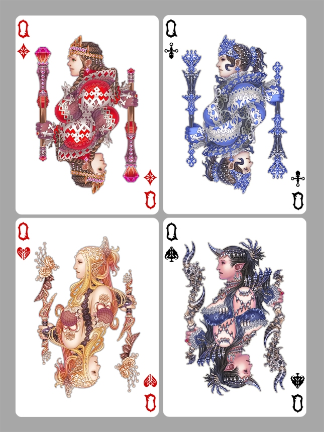 Medusa_Playing_Cards_Queens