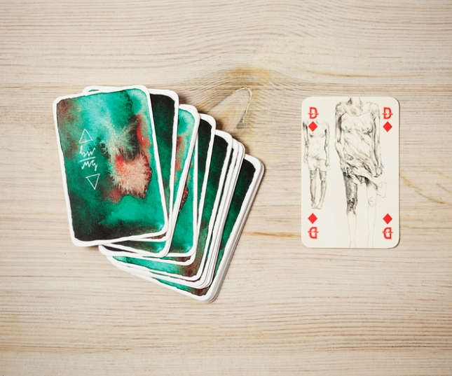 A-Deck-of-Cards-by-Monja-Gentschow-Queen-of-Diamonds
