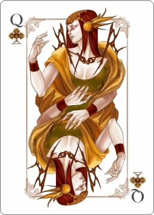The-Four-Seasons-Playing-Cards-Queen-of-Clubs