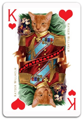 Cats-Royale-Playing-Cards-by-Gerad-Taylor-King-of-Hearts