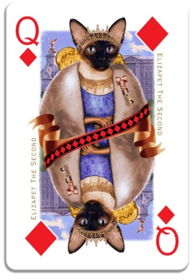 Cats-Royale-Playing-Cards-by-Gerad-Taylor-Queen-of-Diamonds