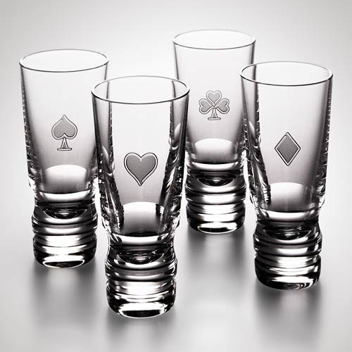 21-Four-Suits-Vodka-Set-Steuben-Glass