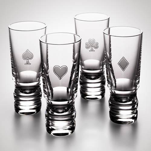 21-Four-Suits-Vodka-Set-Steuben-Glass
