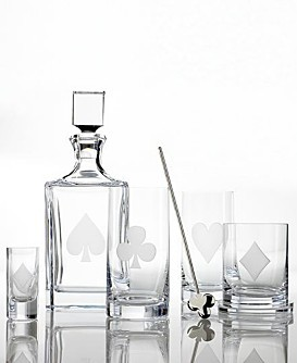 25135a2f04e 32-Kate-Spade-Gin-Rummy-Whiskey-Decanter. Steuben Glass  Four Suits Vodka  Set