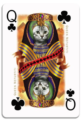Cats-Royale-Playing-Cards-by-Gerad-Taylor-Queen-of-Clubs