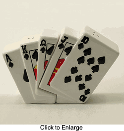 Royal-Straight-Flush-Playing-Cards-Salt-&-Pepper-Shakers