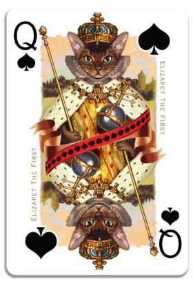 Cats-Royale-Playing-Cards-by-Gerad-Taylor-Queen-of-Spades