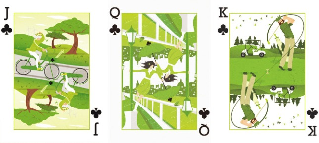 Royal-Seasons-Playing-Cards-Clubs-Spring-Jack-Queen-King