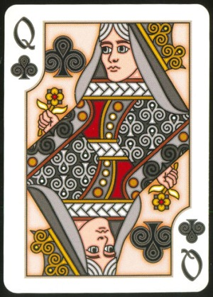 Pippoglyph-Playing-Cards-by-BentCastle-Workshops-Queen-of-Clubs