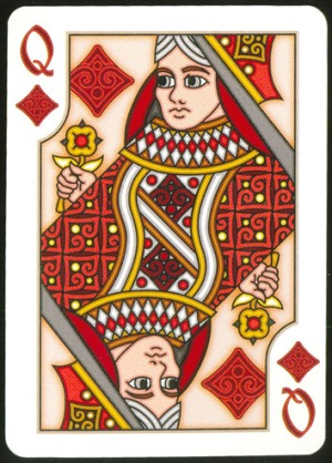 Pippoglyph-Playing-Cards-by-BentCastle-Workshops-Queen-of-Diamonds