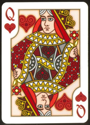 Pippoglyph-Playing-Cards-by-BentCastle-Workshops-Queen-of-Hearts