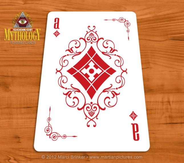 Gods_of_Mythology_Playing_Cards_Ace_of_Diamonds