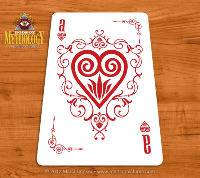 Gods_of_Mythology_Playing_Cards_Ace_of_Hearts