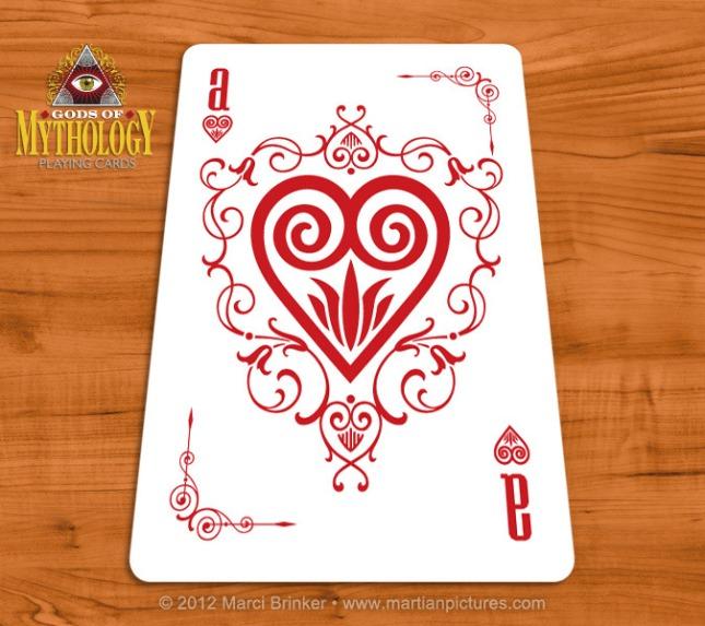 Gods_of_Mythology_Playing_Cards_Ace_of_Hearts