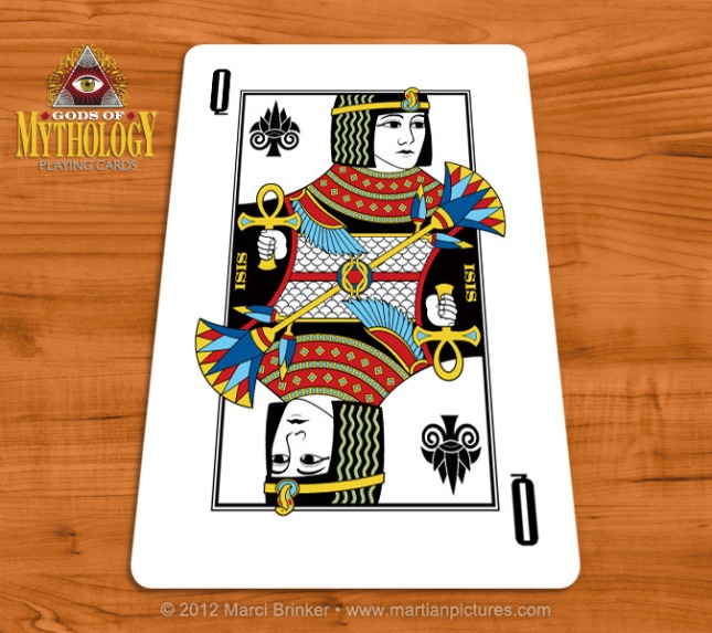 Gods_of_Mythology_Playing_Cards_Isis