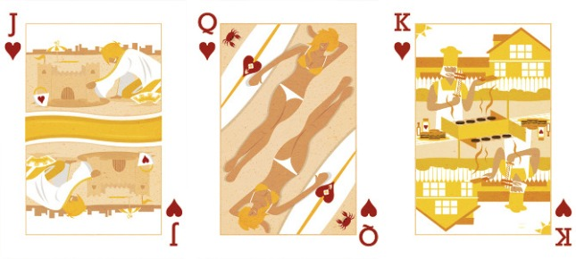 Royal-Seasons-Playing-Cards-Hearts-Summer-Jack-Queen-King