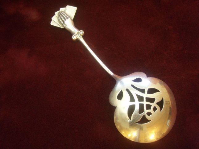 Rare-Sterling-Enamel-Bon-Bon-Spoon