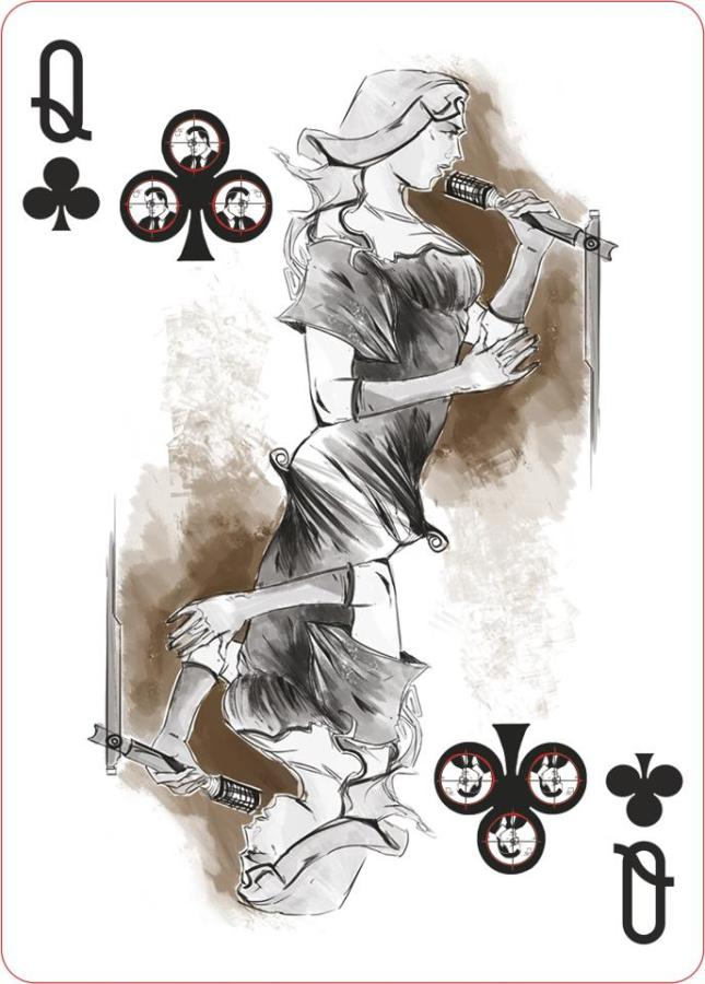 Pr1me_Noir_Playing_Cards_The_Queen_of_Clubs