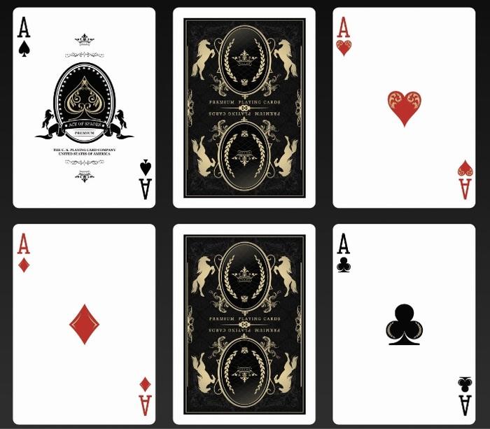 Kickstarter Bicycle Majestic Playing Cards By Elite