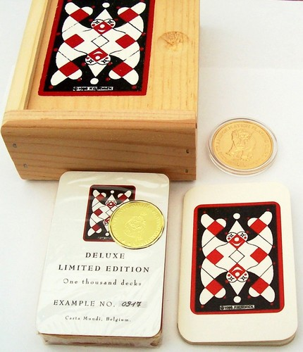 Circus Transformation Playing Card Deck-Robert Schick-gilded with gold coin