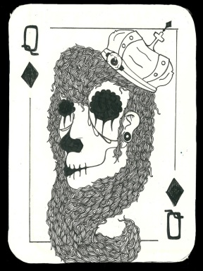Daniel-Campbell-Playing-Cards-The-Queen-of-Diamonds