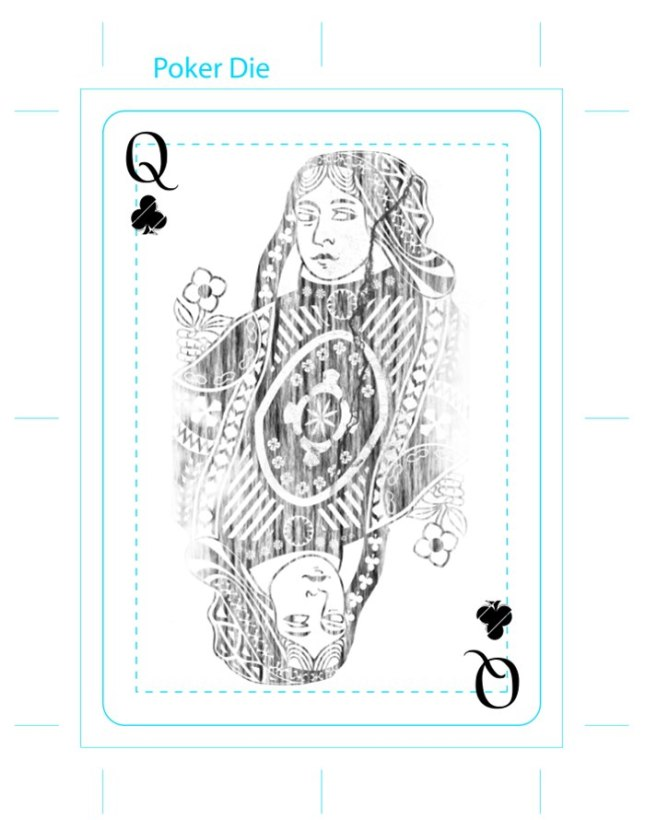Eric_Duan_Butterfly_Playing_Cards_The_Queen_of_Clubs
