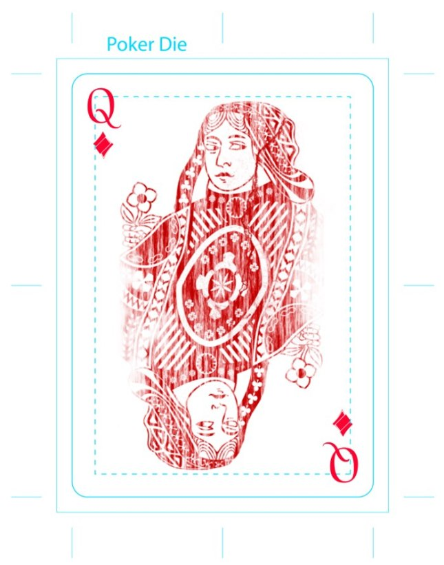 Eric_Duan_Butterfly_Playing_Cards_The_Queen_of_Diamonds