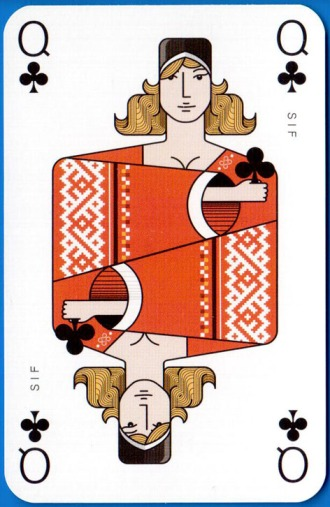 Icelandair_Playing_Cards_The_Queen_of_Clubs