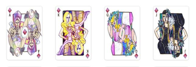 Playing Card Art Katerina Veselova  Playing Cards -2398