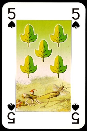 Lo_Scarabeo_The_Fairy_People_The_Five_of_Spades