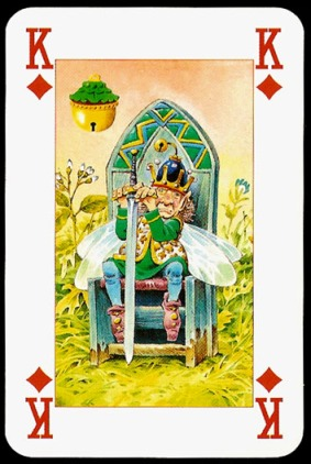 Lo_Scarabeo_The_Fairy_People_The_King_of_Diamonds