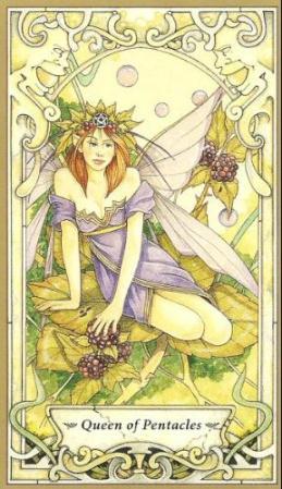 Mystic_Faerie_Tarot_Queen_of_Pentacles