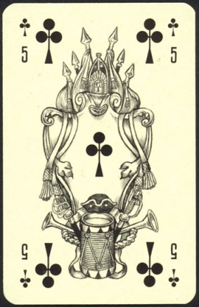 Nevskie_Playing_Cards_The_Five_of_Clubs