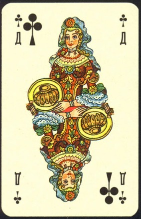 Nevskie_Playing_Cards_The_Queen_of_Clubs