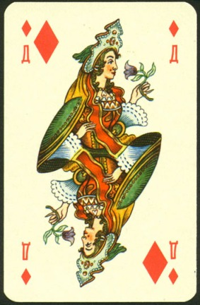 Nevskie_Playing_Cards_The_Queen_of_Diamonds