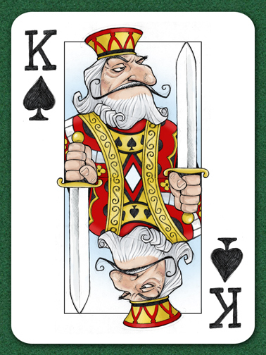 Playing Card Art: The King of Spades by JaggedSmile