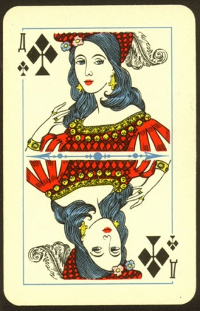 Theatre_Playing_Cards_The_Queen_of_Clubs