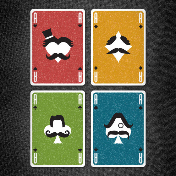Vända_Playing_Cards_Mustache_Playing_Cards_Aces