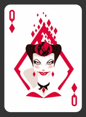 52-Aces-Playing-Cards-The-Queen-of-Diamonds