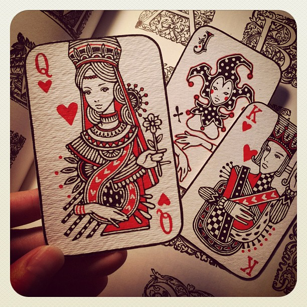 Audrey-Kawasaki-Playing-Cards-Queen-of-Hearts