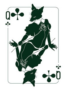 Binth_Joker_Playing_Cards_The_Queen_of_Clubs