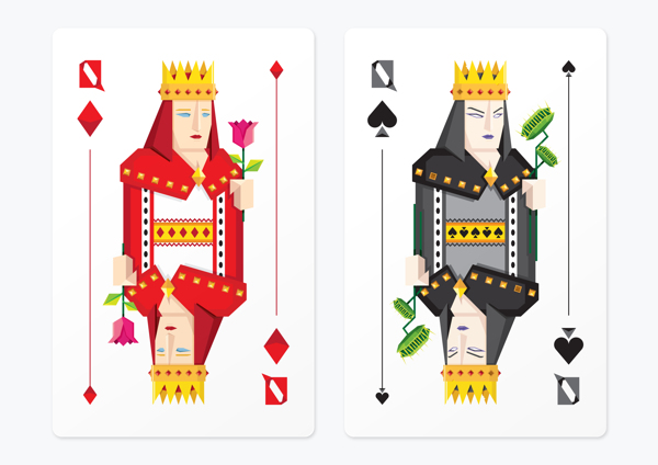 Frederico_Birchal_Dark_Side_Playing_Cards_Queens
